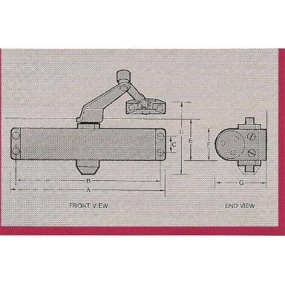 International Door Closers 852 - Standard (Regular) Arm Assembly - Size 2 Spring - Hydraulic Surface Mount Door Closer - Finish: (AL)Aluminum