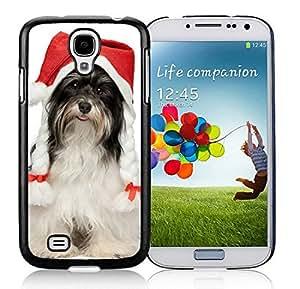 Custom-ized Phone CaseSamsung S4 TPU Protective Skin Cover Christmas Dog Black Samsung Galaxy S4 i9500 Case 40