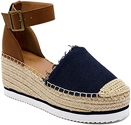 2e58e4db08b Nautica Women's Espadrille Mid Wedge Sandals with Fashion Buckle ...