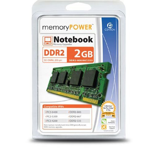 Centon Electronics 2 DDR2 800 (PC2 6400) Memory 2GB800LT by Centon
