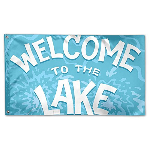 BINGOING Flag Decorative House Flags - Welcome To The Lake O
