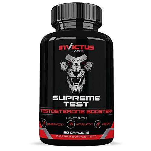 Extra Strength Testosterone Booster (60 Caplets) | Natural Endurance, Stamina and Strength Booster | Builds Muscle Fast | Boost Performance and Recovery | Promotes Healthy Weight Loss and Fat Burning