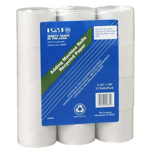 pm-company-perfection-recycled-calculator-rolls-225-inches-x-150-feet-white-12-per-pack-02835