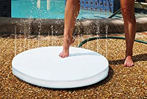 """28"""" White Outdoor Patio and Poolside Portable Summer Shower in the Round"""