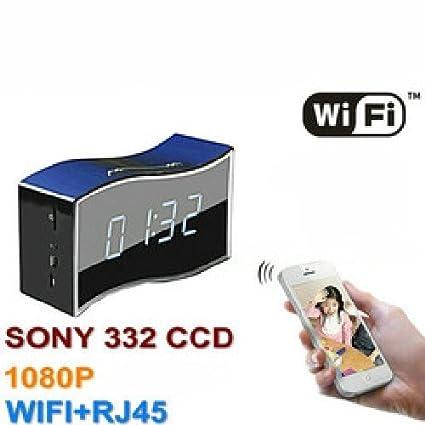Agente007 - Camara Espia Wifi P2P Oculta En Reloj Despertador Full Hd 1080P Lente Sony Gran