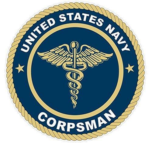 """1 Pc Unequaled Popular U.S. Navy Corpsman Stickers Signs Indoor Car Decals Vinyl Size 4.5"""" x 4.5"""""""