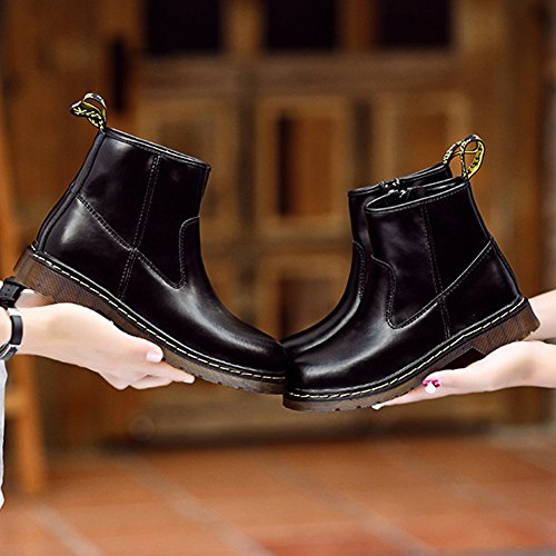 Ankle New Black Martin Men Winter Couple Casual Outdoor Men's Boots BERTERI Women's Lovers Boots v7dqqxfw