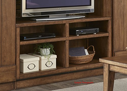 """Liberty Furniture 712-TV55 Lancaster II Entertainment TV Stand, 55"""" x 18"""" x 28"""", Antique Brown"""
