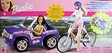Barbie BIKING ADVENTURE VEHICLE Set - CAR w BICYCLE, Bike Rack, & MORE! (2002)