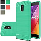 Asus Zenfone V Live Case, Boythink TPU Brushed Texture Anti-Drop Soft Back Cover Rubber Shockproof Full-Body Protection Case Cover For Asus Zenfone V Live V500KL (Green)