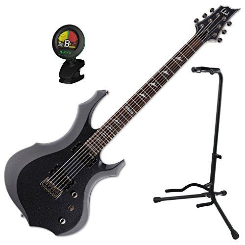 - ESP LTD F-200 Baritone CHM Electric Guitar w/ Stand and Tuner