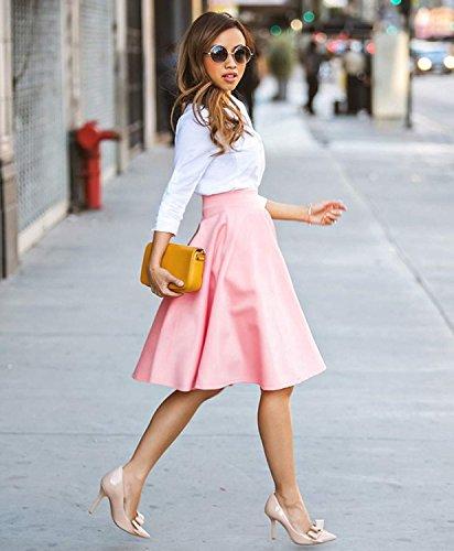 Minetom Femme élégante Jupe Longue Classique Jupe Chic taille Haute Robe Plissé d'Été Cocktail Jupe
