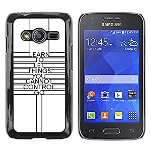 LECELL--Funda protectora / Cubierta / Piel For Samsung Galaxy Ace 4 G313 SM-G313F -- Quote Minimalist Lines Motivational --