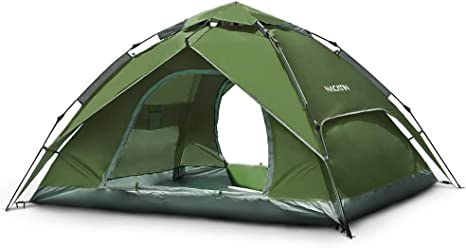 2-3 Persons Camo Camping Tent Portable Outdoor Hiking Beach Family Tent Kits UK