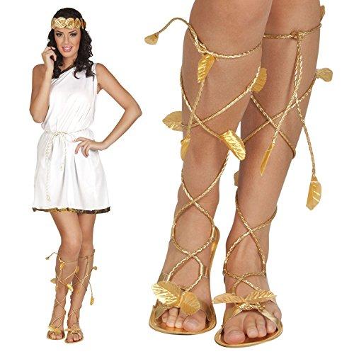 Roman Greek Gold Goddess God Sandals Xena Princess Leaf Venus Ladies