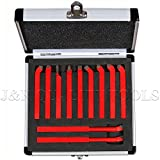 11 Pc Carbide Tip Tipped Cutter Tool Bit Cutting Set For Metal Lathe Tooling