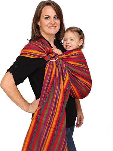 Maya Wrap ComfortFit Ring Sling Baby Carrier – Bright Stripes – Medium