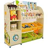 Estantería infantil para libros y juguetes de SZ5CGJMY®, organizador para cajas, vitrina para sala de juegos, dormitorio, muebles infantiles (beige)