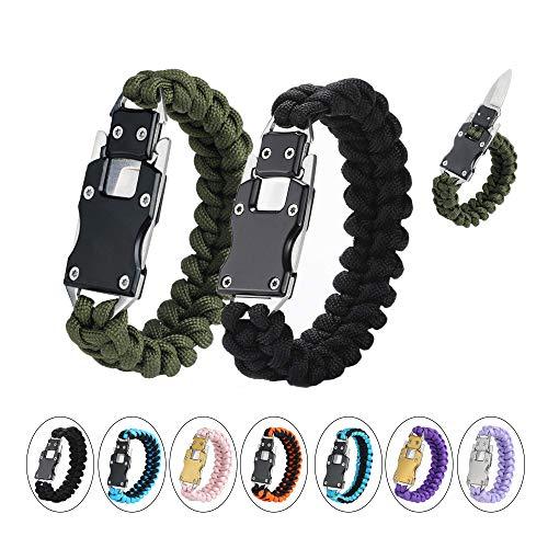 🥇 WEREWOLVES Paracord Knife Bracelet Survival Cord Bracelets