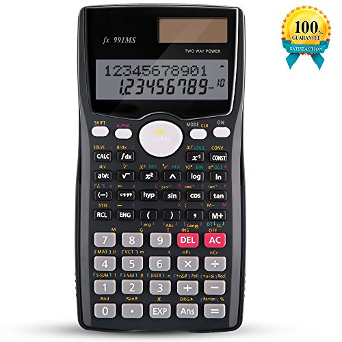 Scientific Calculators, KDT 2-Line Engineering Calculator Two Way Power Standard Function Calculators