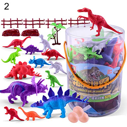 Softmusic Toys and Hobbies 19/25Pcs Simulation Animal Action Figure Cartoon Dinosaur Model Kids Play Toy 25PCS from Softmusic