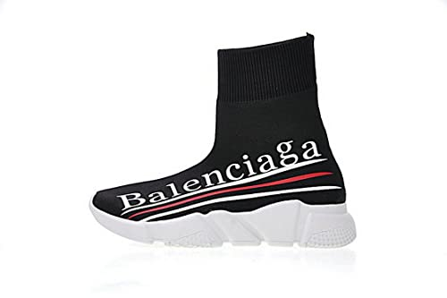 Balenciaga Speed Stretch-Knit Trainer Logo Three Bar Zapatillas de Gimnasia para Hombre Mujer: Amazon.es: Zapatos y complementos