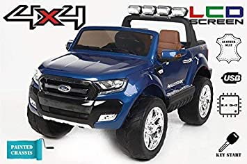 Ford Ranger Wildtrak 4X4 LCD Luxury, Coche eléctrico para niños, 2.4Ghz, Pantalla