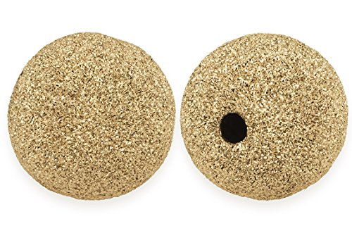 (50 Pieces 14K Gold Filled Round Stardust Beads 4)