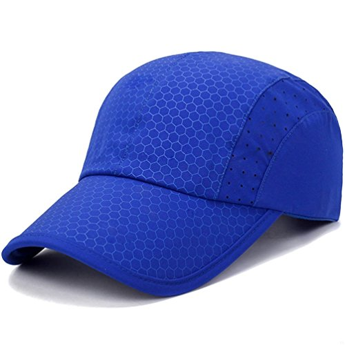 GADIEMENSS Sport Cap,Soft Brim Lightweight Waterproof Running Hat Breathable Baseball Cap Quick Dry Sport Caps Cooling Portable Sun Hats for Men and Woman Performance Cloth Workouts and Outdoor Activities Blue, ()