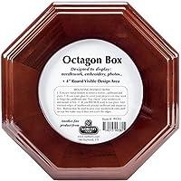 Sudberry House Mahogany Octagon Box 6X6X2-3/4-4 Design Area