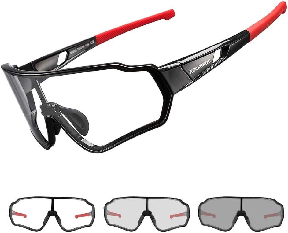 ROCKBROS Gafas de Sol Fotocromáticas Transparentes Protección UV para Bicicleta Ciclismo Conducir Running Deportes al Aire Libre para Hombre y Mujer