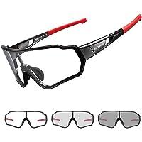 ROCKBROS Gafas de Sol Fotocromáticas Transparentes Protección UV para Bicicleta Ciclismo Conducir Running Deportes al…