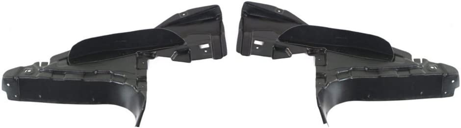 Engine Splash Shield Set of 2 compatible with 2001-2003 BMW 525i Under Cover Right and Left Side Lateral Floor Cover