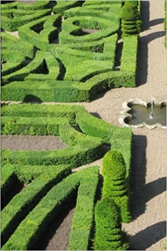 150 Page Lined Notebook//Diary Formal Gardens at the Chateau de Villandry Loire Valley France Journal