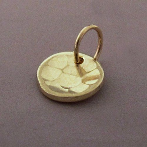 Tiny Pool Pendant in Hand Hammered 14k Yellow Gold