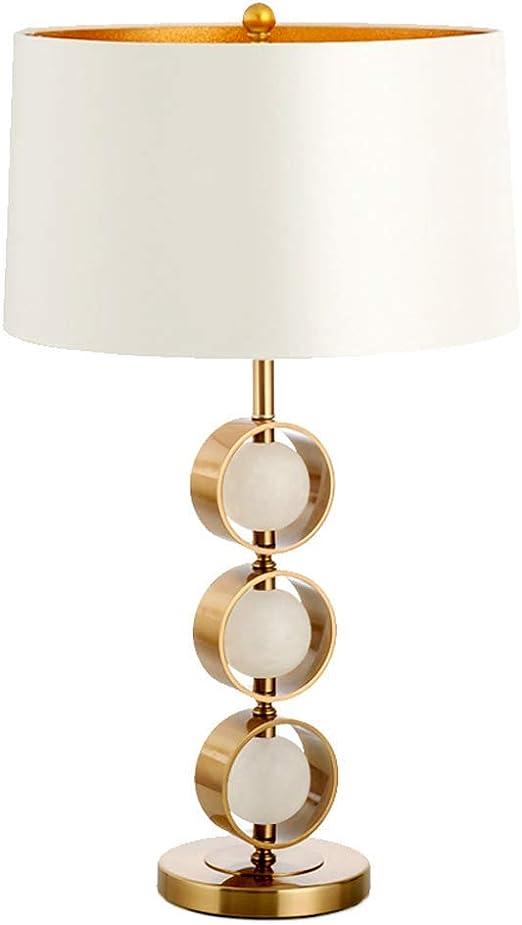 Lámpara de mesa Lámpara de mesa de hierro forjado Lámpara de ...