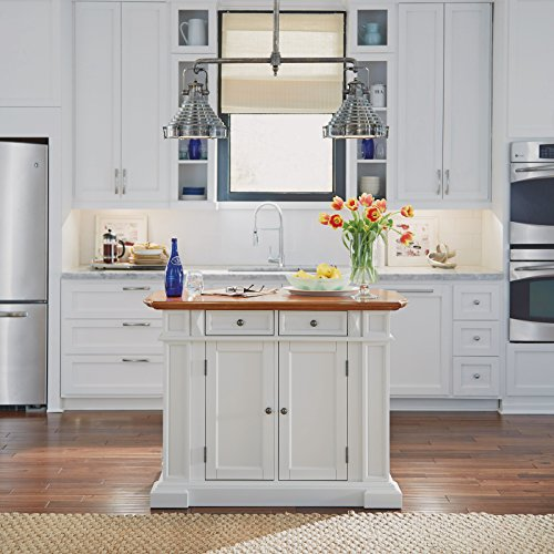 Home Styles Brown Midcentury Kitchen Islands At Lowes Com: Home Styles 5002-94 Kitchen Island, White And Distressed