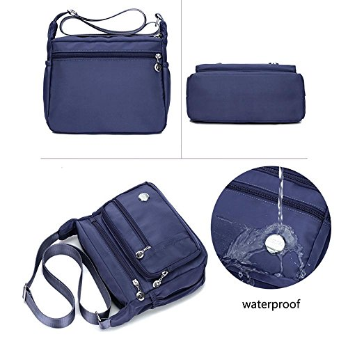 Deep For Shoulder Organize Theft Purse Crossbody Blue Bag Women Pocket Messenger Zipper Anti Pack Bags With Casual Travel Handbag Large Waterproof Size Nylon Pocket EPBqwUq