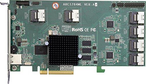 Areca 1284Ml-24 24-port PCIe 2.0 to SATA lll RAID Adapters by PCIe 2.0 SATAIII RAID Controller