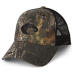 Costa Del Mar Mesh Hat, Mossy Oak New Breakup Camo/Black