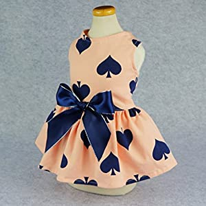 Fitwarm Sweetie Ribbon Pet Clothes Dog Dress Vest Shirts Sundress, Small