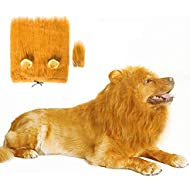 Lovelion Dog Hats - Interesting Dog Costumes for Halloween - Dog Lion Mane Gift [Lion Tail] - Lion Wig Suitable for Medium to Large Sized Dogs