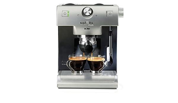 Solac CE4550 Máquina espresso Plata 1,2 L 2 tazas - Cafetera (Máquina espresso, 1,2 L, 1150 W, Plata): Amazon.es: Hogar