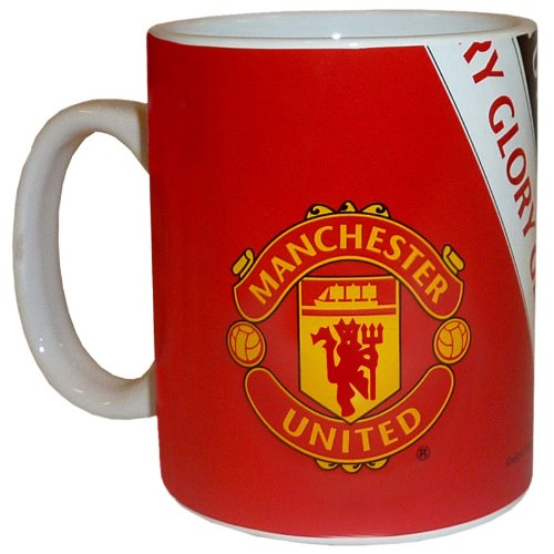 MANCHESTER UNITED FC Official Ceramic Mug GG Red Club Crest Coffee Cup