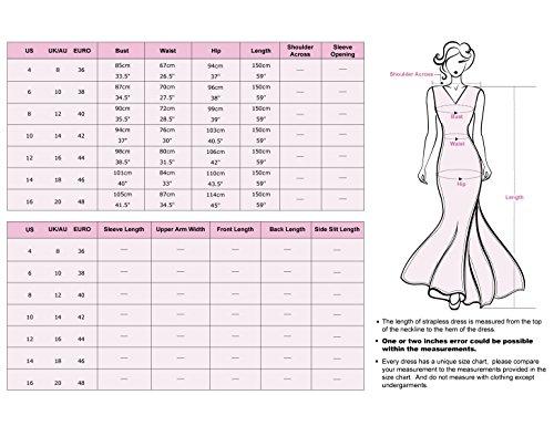 Ever-Pretty - Vestido - para mujer Frambuesa