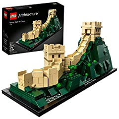 Discover the architectural secrets of the Great Wall of China World Heritage site with this LEGO Architecture 21041 The Great Wall of China collectible building. Explore the ingenious building techniques that allow the structure to drape acro...