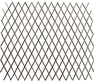 Master Garden Products Carbonized Barkless Willow Expandable Fence, 72 By  72 Inch, Light Mahogany Color