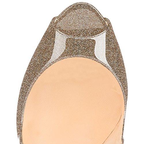 Women's god Stiletto Court Toe High Shoes Heel Soireelady Pumps Glitter Peep Tq4SPwxwB