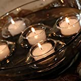 Laugh Cat Creative Romantic Floating Tealight Candle Holder Set of 12 Hard Borosilicate Glass