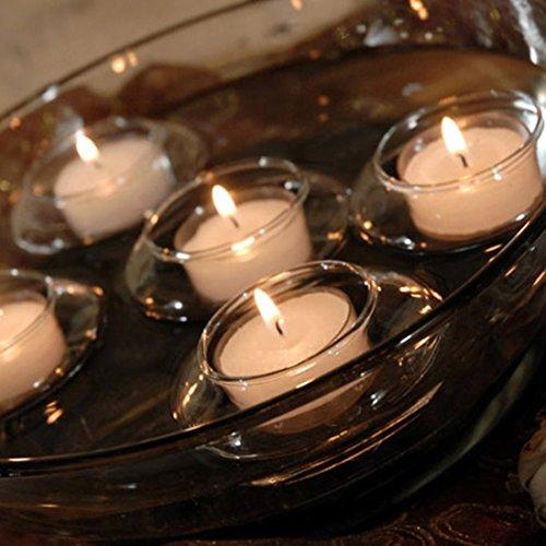 Laugh Cat Creative Romantic Floating Tealight Candle Holder Set of 12 Hard Borosilicate ()